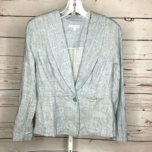 Cabi Button Front Linen blend Jacket Size 6